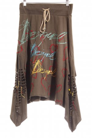 Desigual Wool Skirt multicolored extravagant style