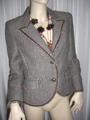 Desiner Woll Kostüm Jacket /Rock IQ NEUWERTIG Braun