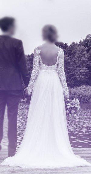 Desinger Brautkleid in Ivory/Elfenbein von Novia D'Art