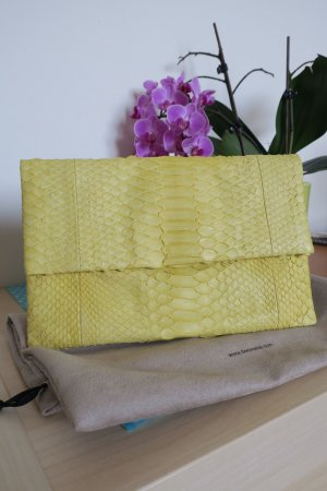 Desiree Lai Borsa clutch giallo Pelle di rettile