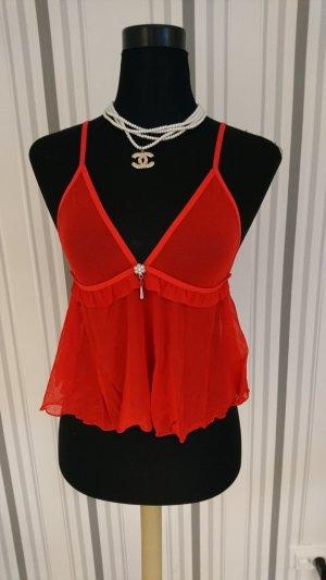 Ensemble de lingerie rouge tissu mixte
