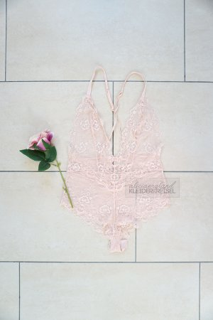 Dessous Body Bodysuit rosa nude Spitze