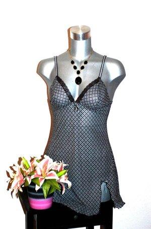 Dessous Set Hemdchen + Slip gr. 38/40 Grau Braun Romantic Look