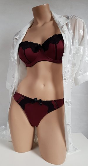 mister*lady Set lingerie nero-rosso scuro