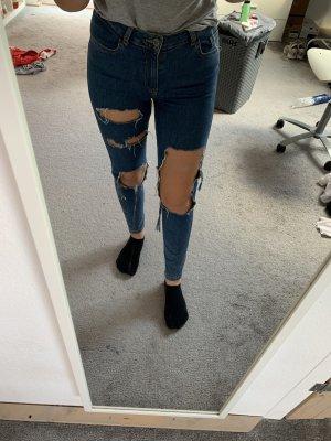 Primark Pantalone a vita alta blu