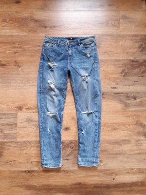 Destroyed Boyfriend Jeans blau Gr. 36