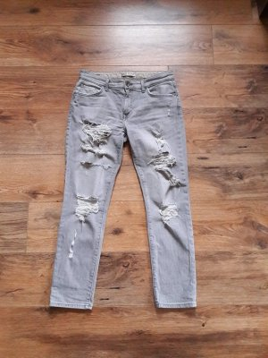 Destroyed Boyfriend Jeans grau Gr. 36
