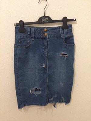 F&F Jupe en jeans bleu