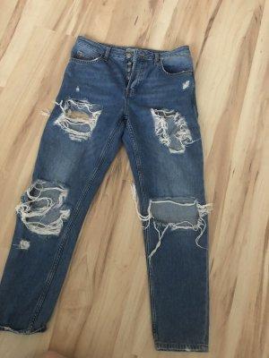 Topshop Hoge taille jeans blauw-staalblauw