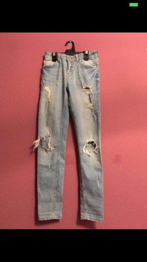 Bershka Low-Rise Trousers azure