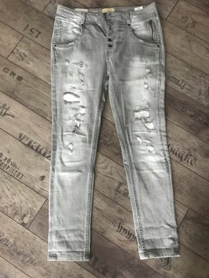 Destroyed Jeans, grau