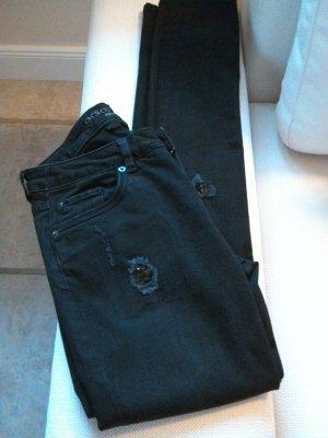 Destroyed Jeans mit Pailletten
