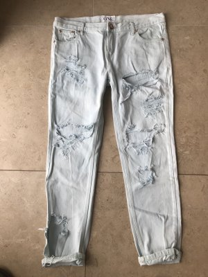 2nd One Jeans boyfriend bleu clair