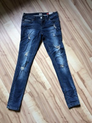 Destroyed Jeans - only - blau