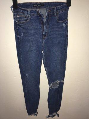 Destroyed Jeans Skinny Fit - High Waist Gr. 36 Denim Blue