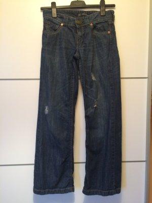 Oasis Pantalon taille basse bleu foncé