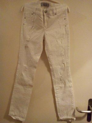 destroyed Jeans weiß