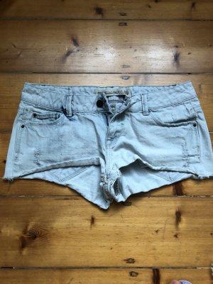Zara Short en jean bleu azur-gris clair