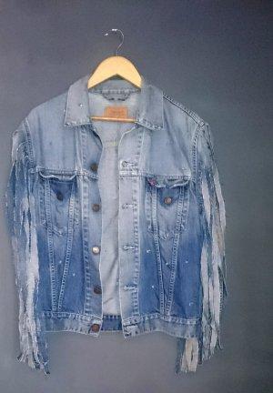 destroyed look jeansjacke levis gr. L unikat