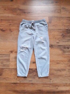 Destroyed Ripped Boyfriend Jogging Jeans Hose blau Gr. 26/32