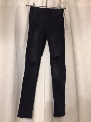 Destroyed Skinny High Waist Jeans