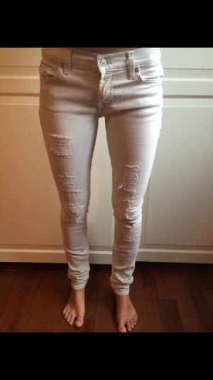 Destroyed Skinny Jeans von 7 for all Mankind