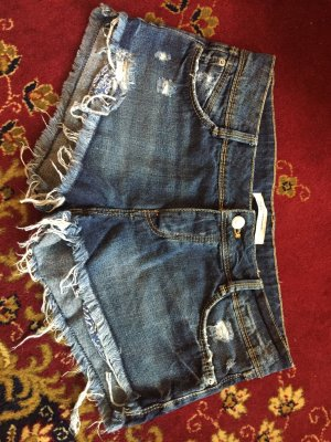 Destroyed Zara Denim Short