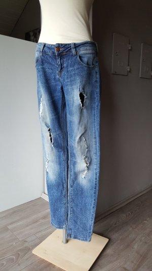 Zara Jeans boyfriend bleu foncé-bleu