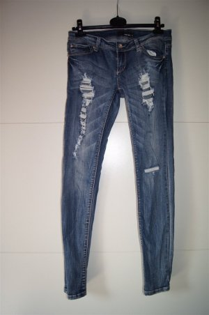 Destroyed, zerrissene Jeans, Used Look
