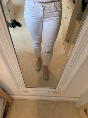 JBRAND Tube Jeans white