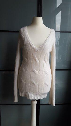 Details zu  Allude Traum Designer Kaschmir Pullover Cashmere Creme weiss 34 Xs