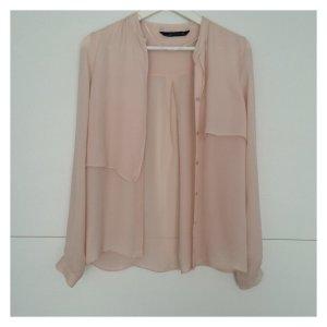 Details zu Hemdbluse von Zara in sehr helles rose