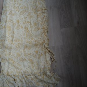 Details zu  Kleid Sommerkleid gelb Esprit Gr. 38 Blumen Trägerkleid