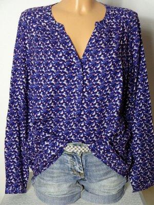 Details zu  PROMOD Bluse Gr. D-36, EUR-38 lila/creme-weiß Muster Oversize Bluse/Tunika