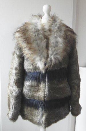 Details zu  s.Oliver Winter Fell Mantel Fur Coat Manteau Kabat Kaput Jacke Jacket S 36 8 6