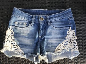 Detroit 37 Denim Shorts azure-natural white