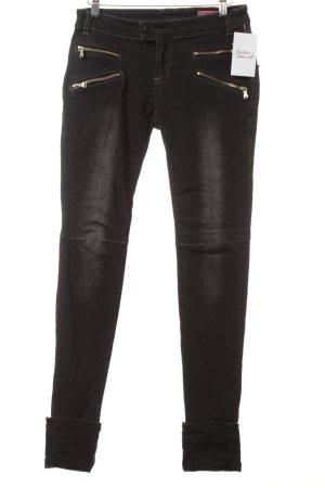 Detroit 37 Skinny Jeans anthrazit Biker-Look