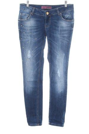 Detroit 37 Slim Jeans blau-weiß Casual-Look
