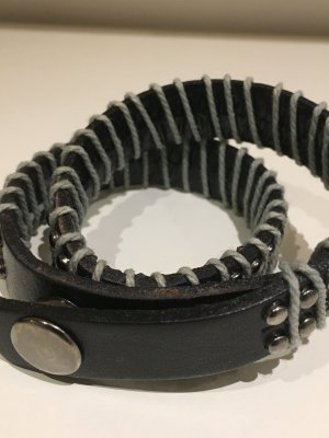 Leather Bracelet dark brown leather