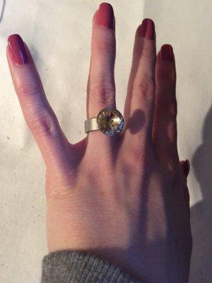 Deussl / Swarovski Ring Crystal Rose