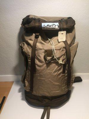 Trekking Backpack black brown-sand brown synthetic fibre