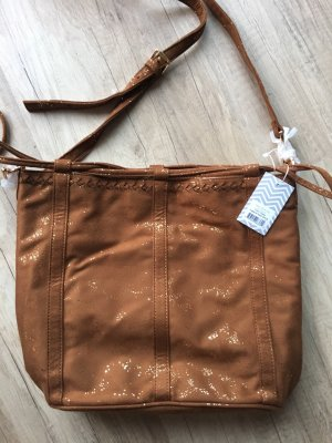 deux lux Pouch Bag brown-gold-colored