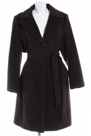 Devernois Manteau en laine gris foncé style mode des rues