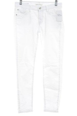 Deyk Jeans a 7/8 bianco stile casual