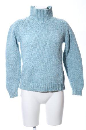 Deyk Connemara Rollkragenpullover blau Casual-Look