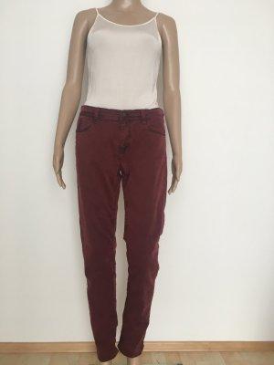 Deyk Pantalon cinq poches violet-bordeau