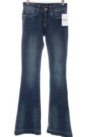 Deyk Jeansschlaghose blau Hippie-Look