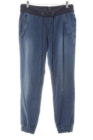Deyk Pantalon large bleu acier style décontracté