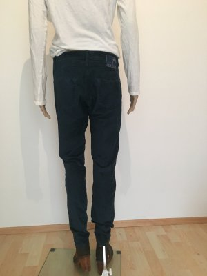 Deyk Samthose Hose Fivepocket Stretch Elasthan Slim 38 29 straight blue Petrol weich samtig cool warm