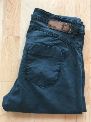 Deyk scandi petrol blau Türkis slim 31/32 denim stretch five pocket Lou Luxus Designer Trend cool Hose